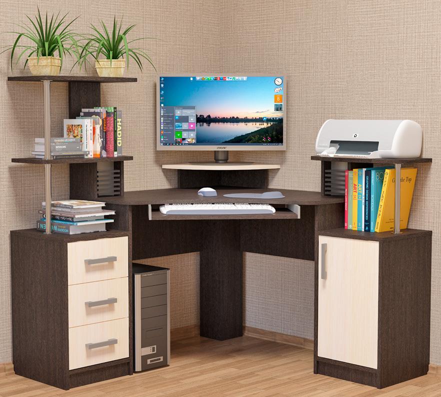 интересный угловые компьютерные столы фото образом